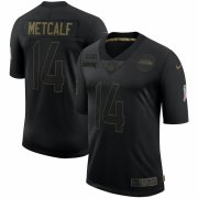 Cheap Seattle Seahawks #14 DK Metcalf Nike 2020 Salute To Service Limited Jersey Black