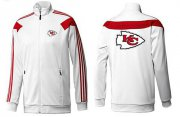 Wholesale NFL Kansas City Chiefs Team Logo Jacket White_1