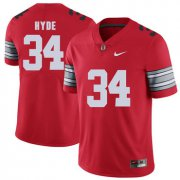 Wholesale Cheap Ohio State Buckeyes 34 Carlos Hyde Red 2018 Spring Game College Football Limited Jersey
