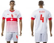 Wholesale Cheap Switzerland #4 Klose Away Soccer Country Jersey