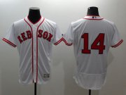 Wholesale Cheap Red Sox #14 Jim Rice White Flexbase Authentic Collection Cooperstown Stitched MLB Jersey