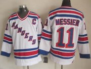 Wholesale Cheap Rangers #11 Mark Messier White CCM Throwback Stitched NHL Jersey
