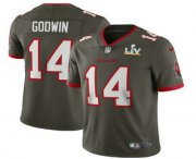 Wholesale Cheap Men's Tampa Bay Buccaneers #14 Chris Godwin Grey 2021 Super Bowl LV Vapor Untouchable Stitched Nike Limited NFL Jersey