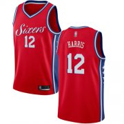 Wholesale Cheap 76ers #12 Tobias Harris Red Basketball Swingman Statement Edition Jersey