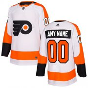 Wholesale Cheap Men's Adidas Flyers Personalized Authentic White Road NHL Jersey