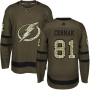 Cheap Adidas Lightning #81 Erik Cernak Green Salute to Service Youth Stitched NHL Jersey