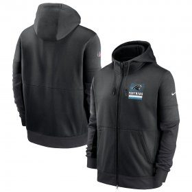 Wholesale Cheap Carolina Panthers Nike Sideline Impact Lockup Performance Full-Zip Hoodie Black