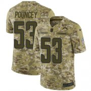 Wholesale Cheap Nike Chargers #53 Mike Pouncey Camo Youth Stitched NFL Limited 2018 Salute to Service Jersey