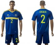 Wholesale Cheap Bosnia Herzegovina #2 Cocalic Home Soccer Country Jersey