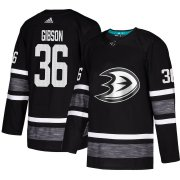 Wholesale Cheap Adidas Ducks #36 John Gibson Black Authentic 2019 All-Star Youth Stitched NHL Jersey