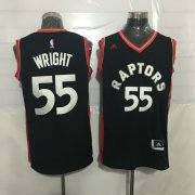 Wholesale Cheap Men's Toronto Raptors #55 Delon Wright Black With Red New NBA Rev 30 Swingman Jersey