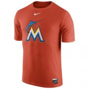 Wholesale Cheap Miami Marlins Nike Authentic Collection Legend Logo 1.5 Performance T-Shirt Orange
