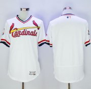 Wholesale Cheap Cardinals Blank White Flexbase Authentic Collection Cooperstown Stitched MLB Jersey