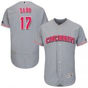 Wholesale Cheap Reds #17 Chris Sabo Grey Flexbase Authentic Collection Stitched MLB Jersey