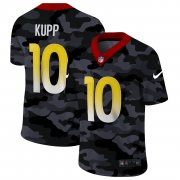 Cheap Los Angeles Rams #10 Cooper Kupp Men's Nike 2020 Black CAMO Vapor Untouchable Limited Stitched NFL Jersey