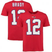 Wholesale Cheap New England Patriots #12 Tom Brady Nike Player Pride Name & Number T-Shirt Red