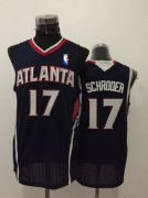 Wholesale Cheap Men's Atlanta Hawks #17 Dennis Schroder Navy Blue Swingman Jersey
