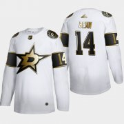 Wholesale Cheap Dallas Stars #14 Jamie Benn Men's Adidas White Golden Edition Limited Stitched NHL Jersey