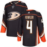 Wholesale Cheap Adidas Ducks #4 Cam Fowler Black Home Authentic Stitched NHL Jersey