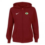 Wholesale Nike Green Bay Packers Ladies Tailgater Full Zip Hoodie Red