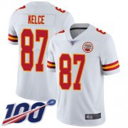 Wholesale Cheap Nike Chiefs #87 Travis Kelce White Men's Stitched NFL 100th Season Vapor Limited Jersey