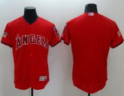 Wholesale Cheap Angels of Anaheim Blank Red Fashion Stars & Stripes Flexbase Authentic Stitched MLB Jersey