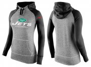 Wholesale Cheap Women's Nike New York Jets Performance Hoodie Grey & Black