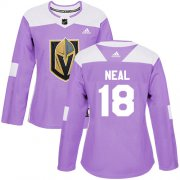 Wholesale Cheap Adidas Golden Knights #18 James Neal Purple Authentic Fights Cancer Women's Stitched NHL Jersey