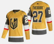 Wholesale Cheap Men's Vegas Golden Knights #27 Shea Theodore Gold 2020-21 Alternate Stitched Adidas Jersey