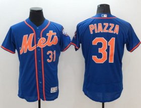 Wholesale Cheap Mets #31 Mike Piazza Blue Flexbase Authentic Collection Stitched MLB Jersey