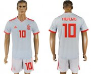 Wholesale Cheap Spain #10 Fabregas Away Soccer Country Jersey