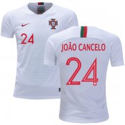 Wholesale Cheap Portugal #24 Joao Cancelo Away Kid Soccer Country Jersey