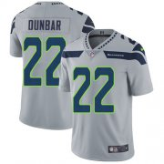 Wholesale Cheap Nike Seahawks #22 Quinton Dunbar Grey Alternate Men's Stitched NFL Vapor Untouchable Limited Jersey
