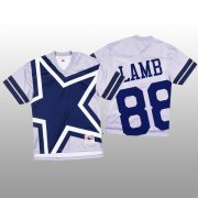 Wholesale Cheap NFL Dallas Cowboys #88 CeeDee Lamb White Men's Mitchell & Nell Big Face Fashion Limited NFL Jersey