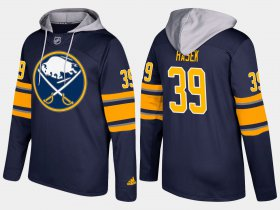 Wholesale Cheap Sabres #39 Dominik Hasek Blue Name And Number Hoodie