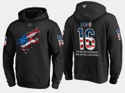 Wholesale Cheap Coyotes #16 Max Domi NHL Banner Wave Usa Flag Black Hoodie