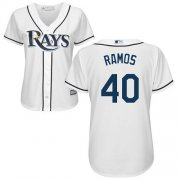 Wholesale Cheap Rays #40 Wilson Ramos White Home Women's Stitched MLB Jersey