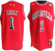 Wholesale Cheap Chicago Bulls #1 Derrick Rose Latin Nights Revolution 30 Swingman Red Jersey