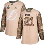 Wholesale Cheap Adidas Lightning #21 Brayden Point Camo Authentic 2017 Veterans Day Youth 2020 Stanley Cup Final Stitched NHL Jersey