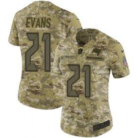 Wholesale Cheap Nike Buccaneers #21 Justin Evans Camo Women\'s Stitched NFL Limited 2018 Salute to Service Jersey