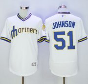 Wholesale Cheap Mariners #51 Randy Johnson White Flexbase Authentic Collection Cooperstown Stitched MLB Jersey