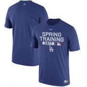 Wholesale Cheap Los Angeles Dodgers Nike 2017 Spring Training Authentic Collection Legend Team Issue Performance T-Shirt Royalg