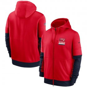 Wholesale Cheap New England Patriots Nike Sideline Impact Lockup Performance Full-Zip Hoodie Red