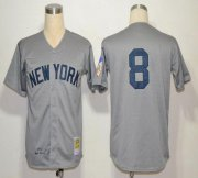 Wholesale Cheap Mitchell And Ness 1951 Yankees #8 Yogi Berra Grey Throwback Stitched MLB Jersey