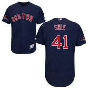 Wholesale Cheap Red Sox #41 Chris Sale Navy Blue Flexbase Authentic Collection 2018 World Series Champions Stitched MLB Jersey
