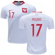 Wholesale Cheap Poland #17 Peszko Home Soccer Country Jersey