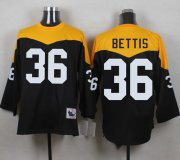 Wholesale Cheap Mitchell And Ness 1967 Steelers #36 Jerome Bettis Black/Yelllow Throwback Men's Stitched NFL Jersey