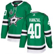 Cheap Adidas Stars #40 Martin Hanzal Green Home Authentic Youth 2020 Stanley Cup Final Stitched NHL Jersey