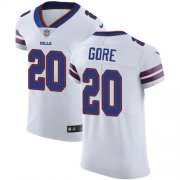 Wholesale Cheap Nike Bills #20 Frank Gore White Men's Stitched NFL Vapor Untouchable Elite Jersey