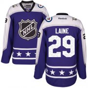 Wholesale Cheap Jets #29 Patrik Laine Purple 2017 All-Star Central Division Stitched NHL Jersey
